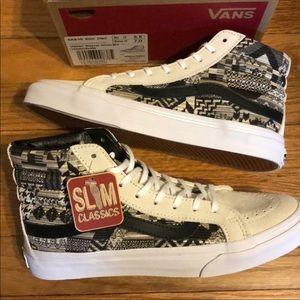 7976654143 NewinBox Vans Skate Hi Top Slim Italian Weave
